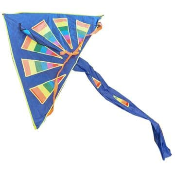 RAINBOW WIDE WINGSPAN KITE with LINE and HANDLE childrens kids flying toy